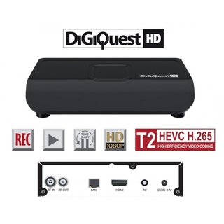 DigiQuest DGQ800 HD HDMI DVB-T2 HEVC H.265 FullHD USB Mediaplayer USB PVR Receiver